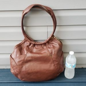 Lucky Brand brown leather hobo handbag